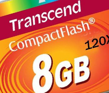 Compact flash transcend на 8 гб 120Х, б/у